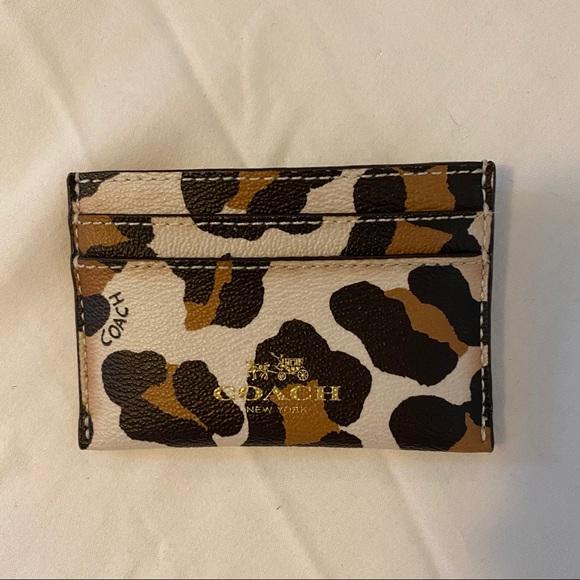 Coach Leopard Card Wallet EUC